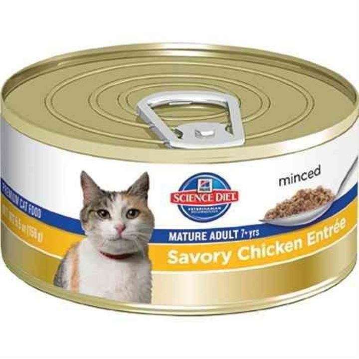 Mature Adult Savory Entree Minced Canned Cat Food 5.5 Oz