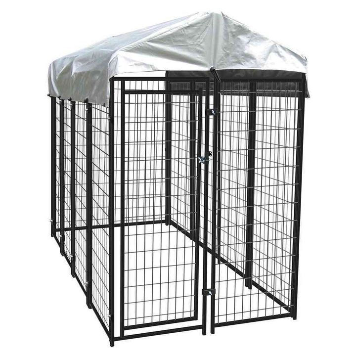 4'x8'x6' Black Uptown Kennel with Cover
