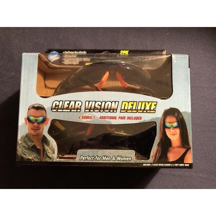 b8e96273d8 Clear Vision Deluxe Tactical Sunglasses - 2pk