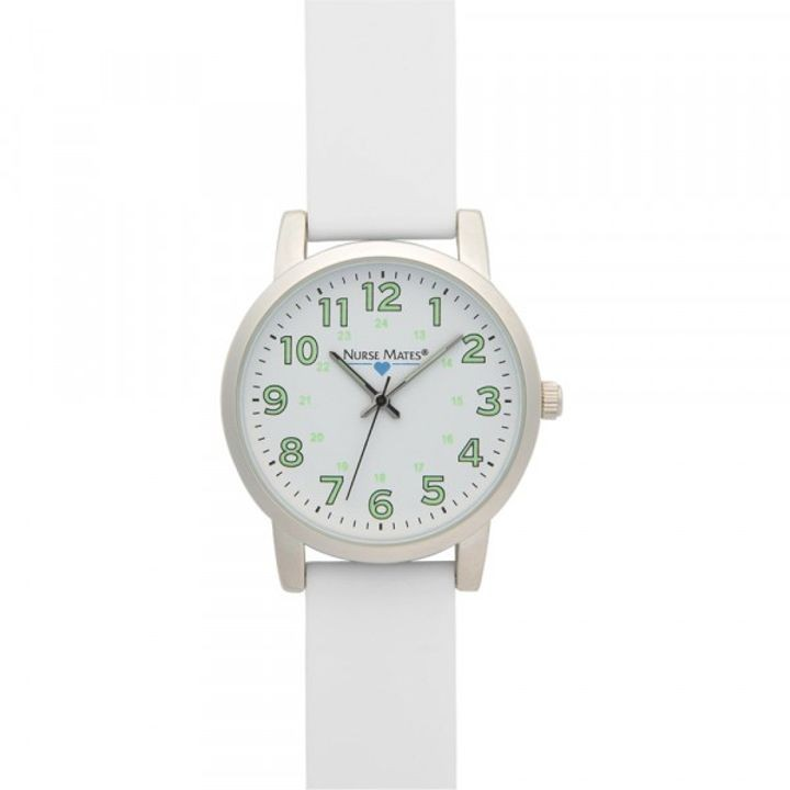 1 1/2 Inches case Luminous Dial White Watch