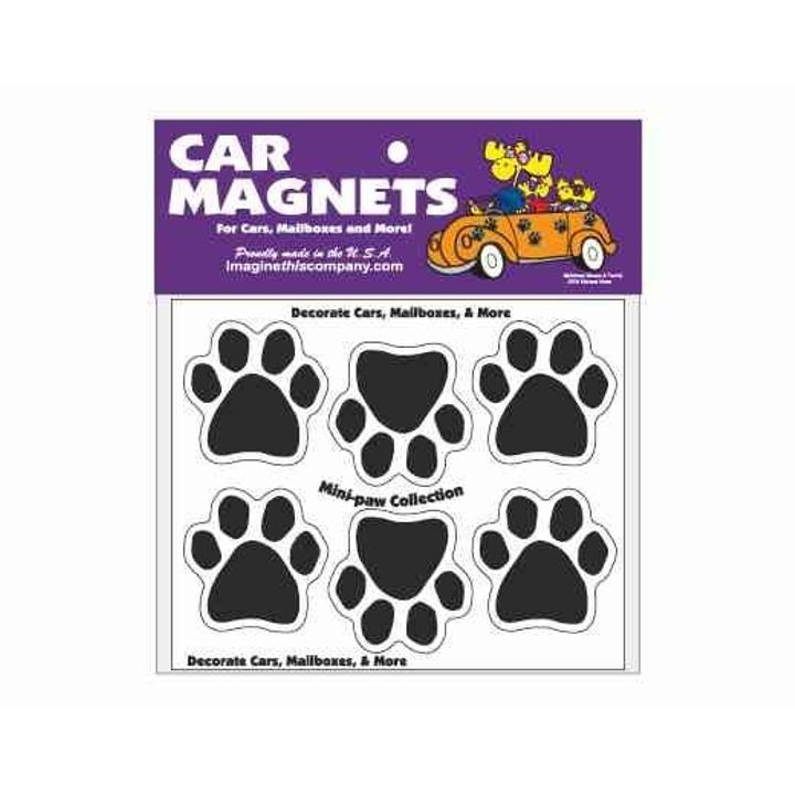 Mini Paws Car Magnets