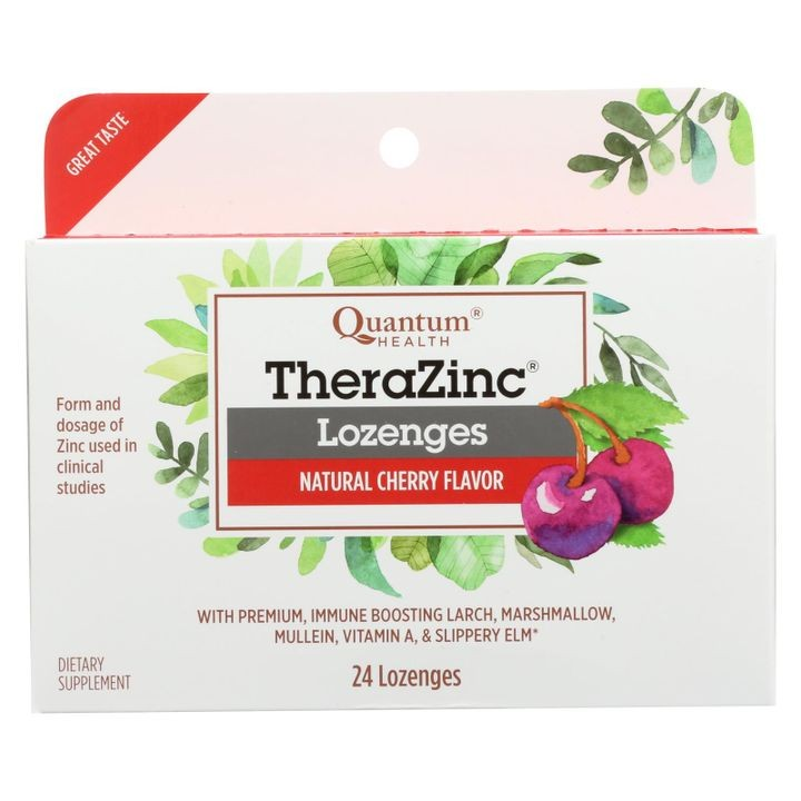 Quantum Research Cold Season Plus Zinc - Cherry - 24 Lozenges
