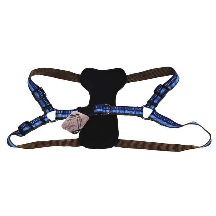 "1"" x 38"" K9 Explorer Reflective Sapphire Adjustable Padded Dog Harness"
