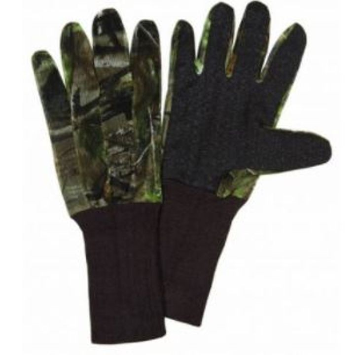 """Dot Grip"" Camo Net Gloves, Realtree AP Green HD"