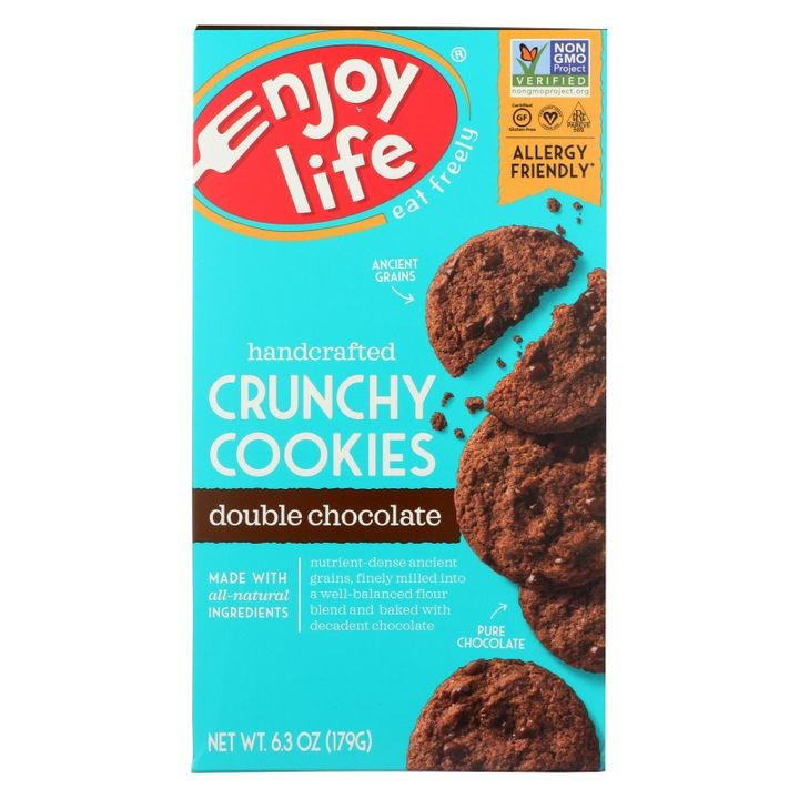 - Cookie - Crunchy - Double Chocolate - Gluten Free - 6.3 Oz - Case Of 6