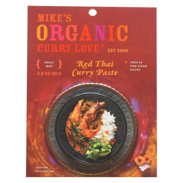 - Organic Curry Paste - Red Thai - Case Of 6 - 2.8 Oz.