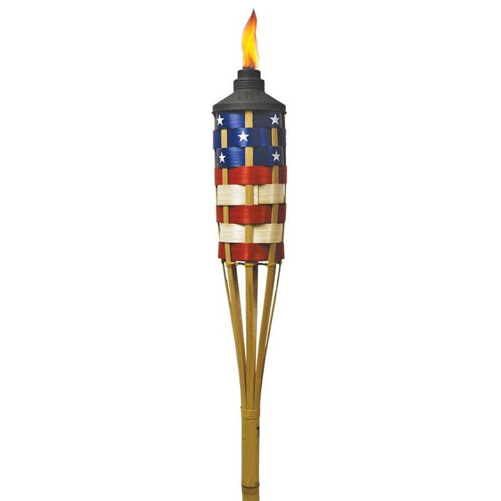 Americana Patriotic Bamboo Torch