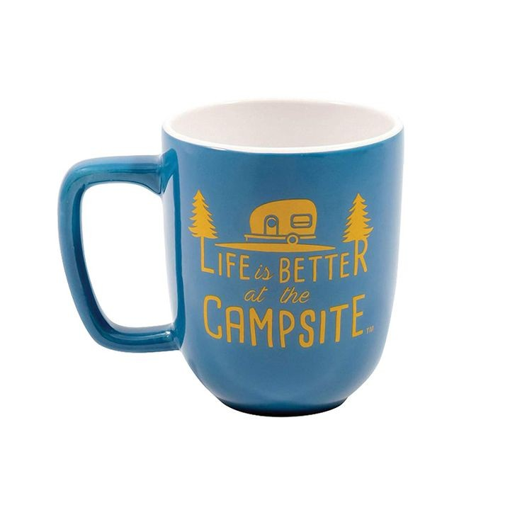 """Life is Better at The Campsite"" Ceramic Coffee Mug"