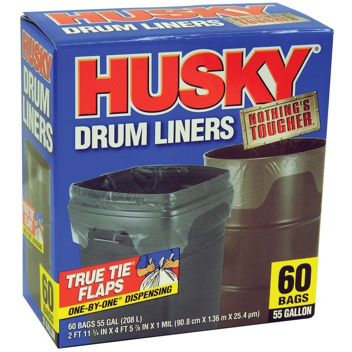 Hk55wc060c Drum Liner, 55 Gal Capacity, 1 Mil Thick, Plastic, Clear