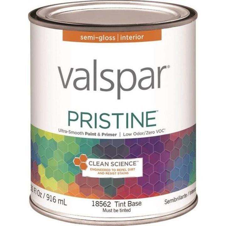 1 Quart Semi-Gloss Tint Base Pristine Latex Paint & Primer