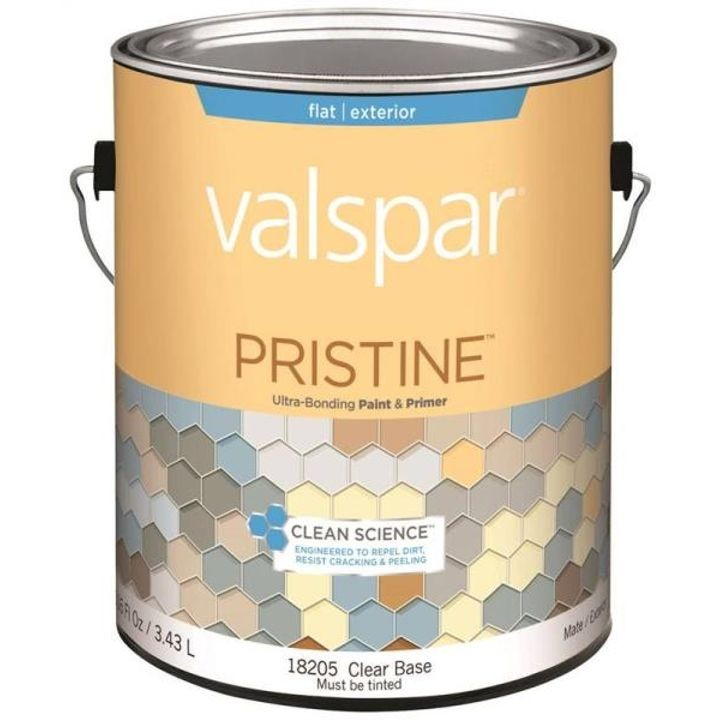 1 Gallon Flat Clear Base Pristine Exterior Paint