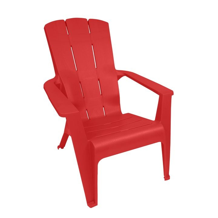 Red Contour Adirondack Chair