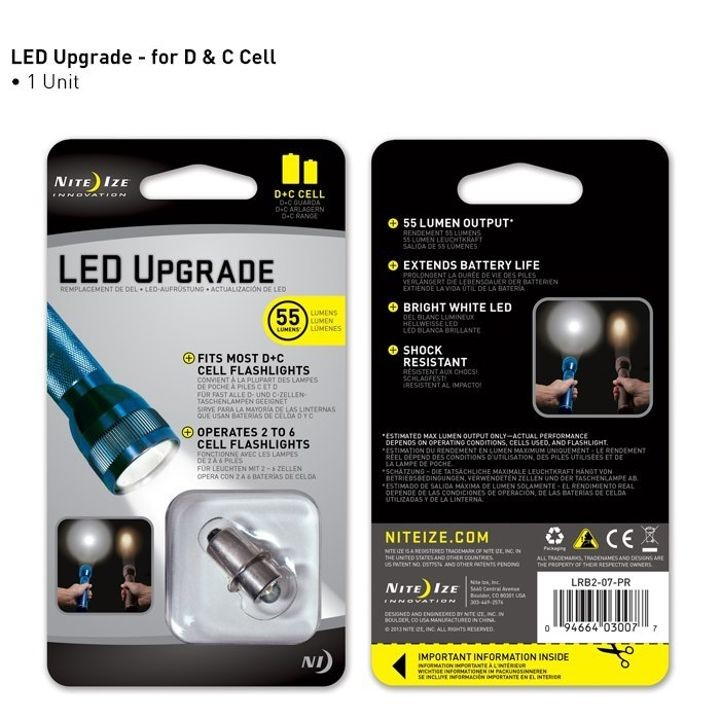 D&C Cell Mag Light LED Upgrade