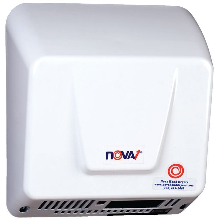 083000000 Automatic Hand Dryer, 100 240 V, 7 8 A, 88 Cfm, White, Surface Mount, 70 Deg F, Aluminum