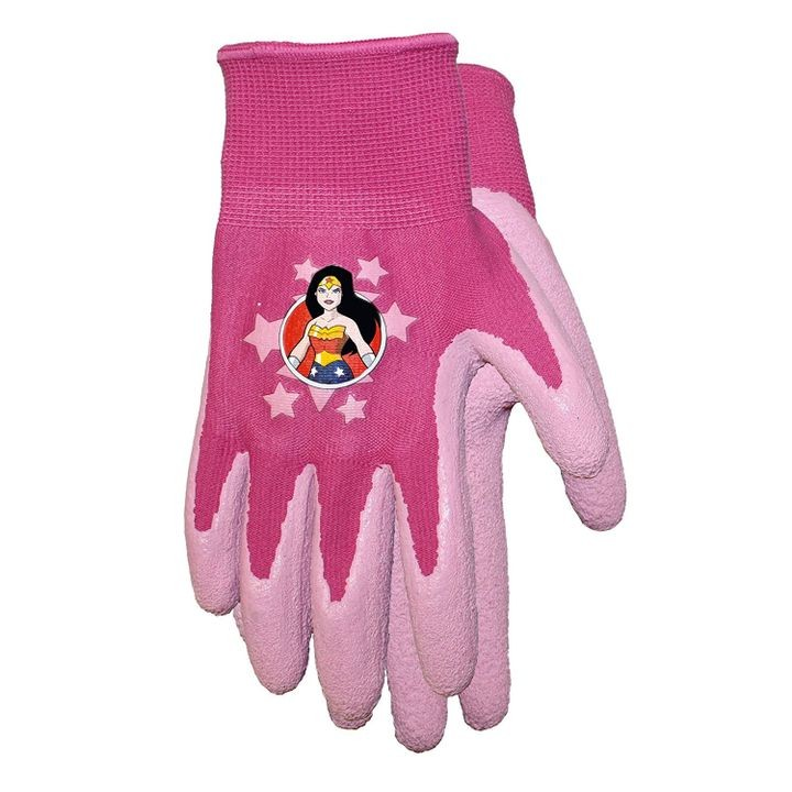 kids dc comics super friends wonder woman gripper gloves