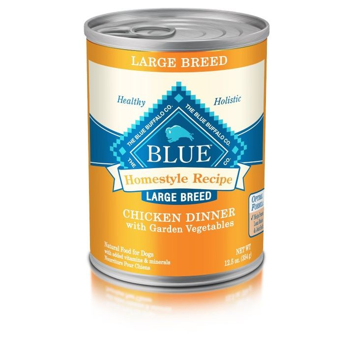 BLUE Homestyle Recipe Chicken Dinner Large Breed Adult Canned Dog Food