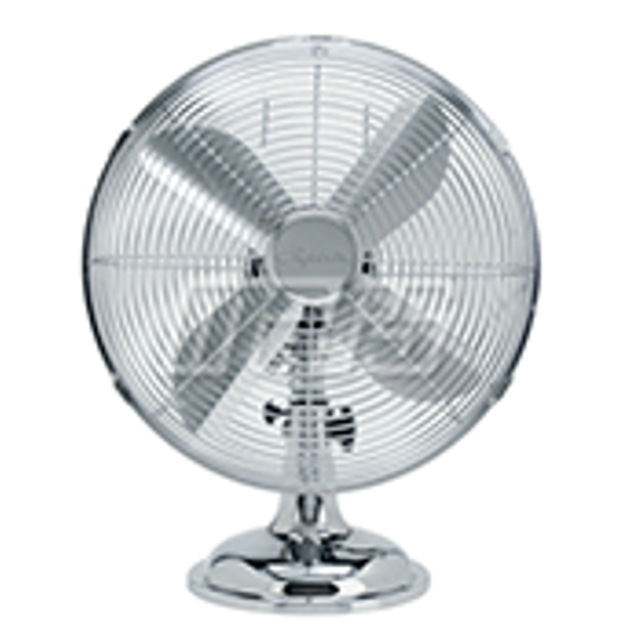 "10"" Chrome Finish 3 Speed Steel Desktop Fan"