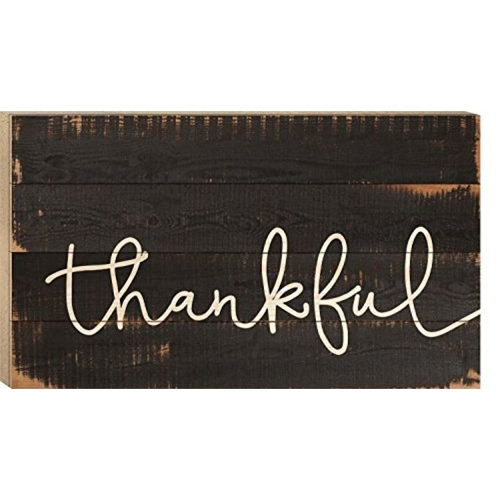 """Thankful"" White Letters Wood Boxed Pallet Plaque - 14"" x 24"""