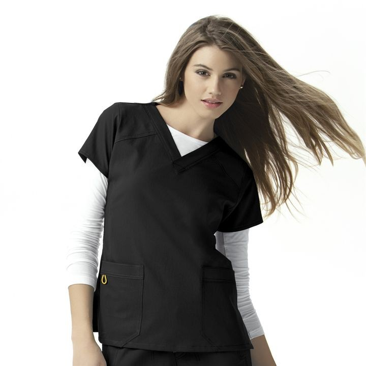Ladies' Four-Stretch V-Neck Scrub Top