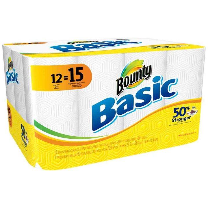 Basic Large Paper Towel Rolls 12