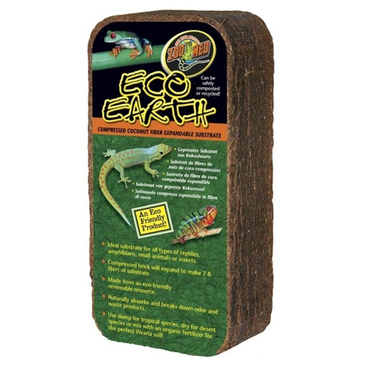 1 Brick Eco Earth Compressed Coconut Fiber Substrate