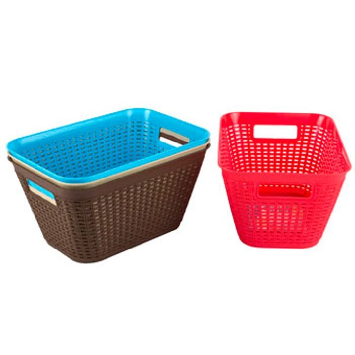 11.2 X 7.8 X 5.9 Inch 4 Colors Rectangular Large Basket