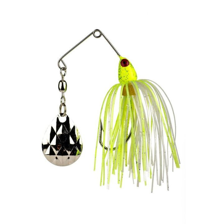 1/8 oz Mini-King Spinner Bait Fishing Lure Chart/White