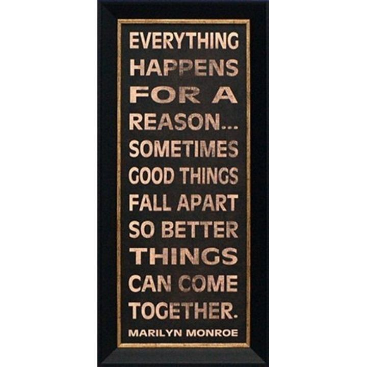 """Everything Happens For a Reason"" Stenciled Art Sign"