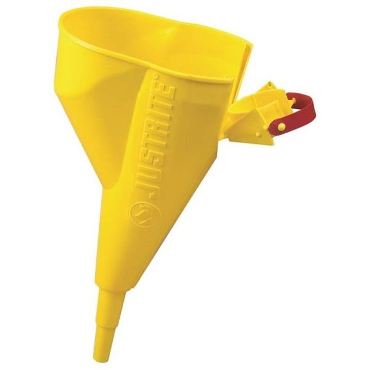 1/2 In Dia X 11-1/4 In H, 3/4 In Bottom, Polypropylene, Yellow Filler Funnel,