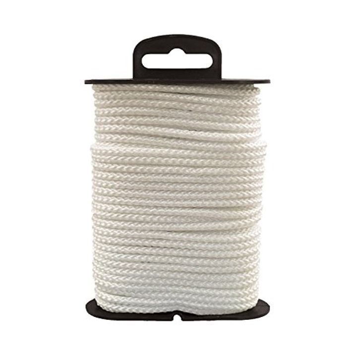 1/8 inch x 48 Feet Length Polyester Cord Diamond White Braid