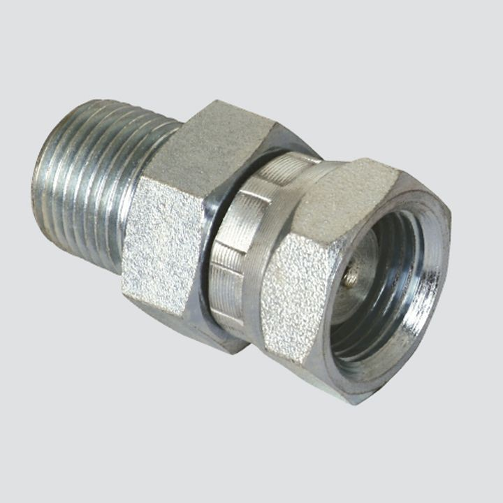 "1"" Male Pipe Thread x 1"" Female Pipe Thread Swivel Hydraulic Adapter"