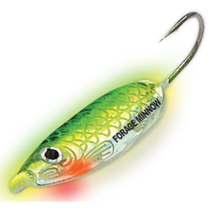 """Holographic"" Forage Minnow Jig #6 1/8 oz Super-Glo Perch 2-Pk"