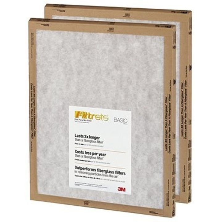 "Filtrete Basic Flat Panel 16"" x 25"" x 1"" Air Filter 2 Pack"