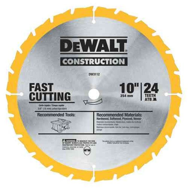 "10"" 24T Fast Ripping Table Saw Blade"