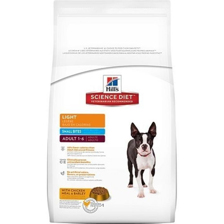 Chicken & Barley Light Small Bites Adult Dry Dog Food