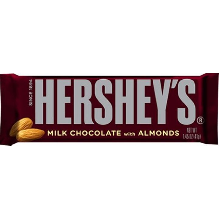 1.45 oz Milk Chocolate Bars with Almonds - 6 Ct