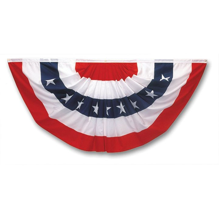 Pleated Full Fan Flag With Stars Bunting