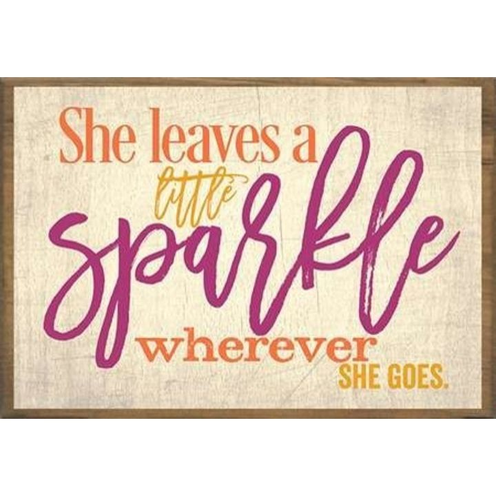 """She Leaves a Little Sparkle Everywhere She Goes"" Boxed Art"