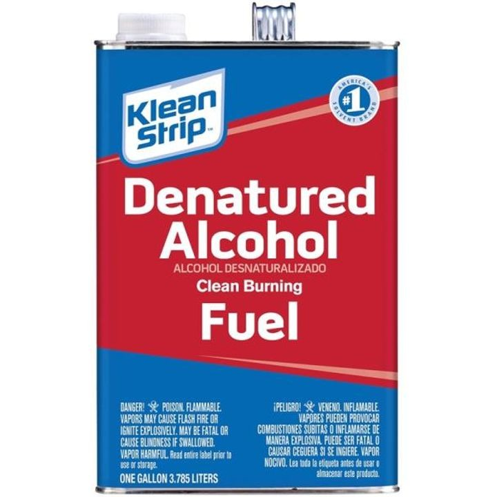 1 Gal Can, Water White, Liquid Denatured Alcohol