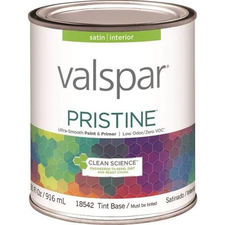 1 Quart Stain Tint Base Pristine Latex Paint & Primer