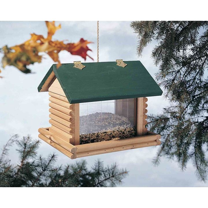 Small Log Cabin Bird Feeder