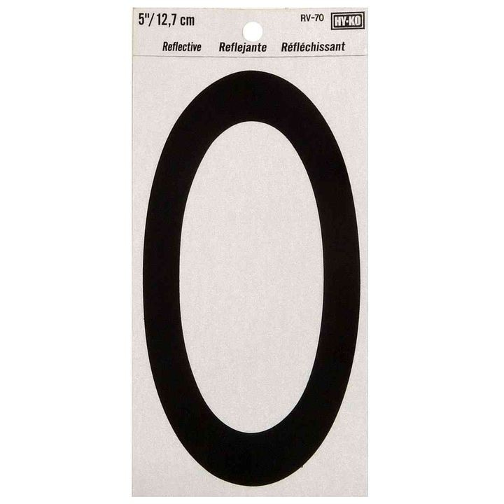 "5"" Reflective Self-Adhesive Numbers"