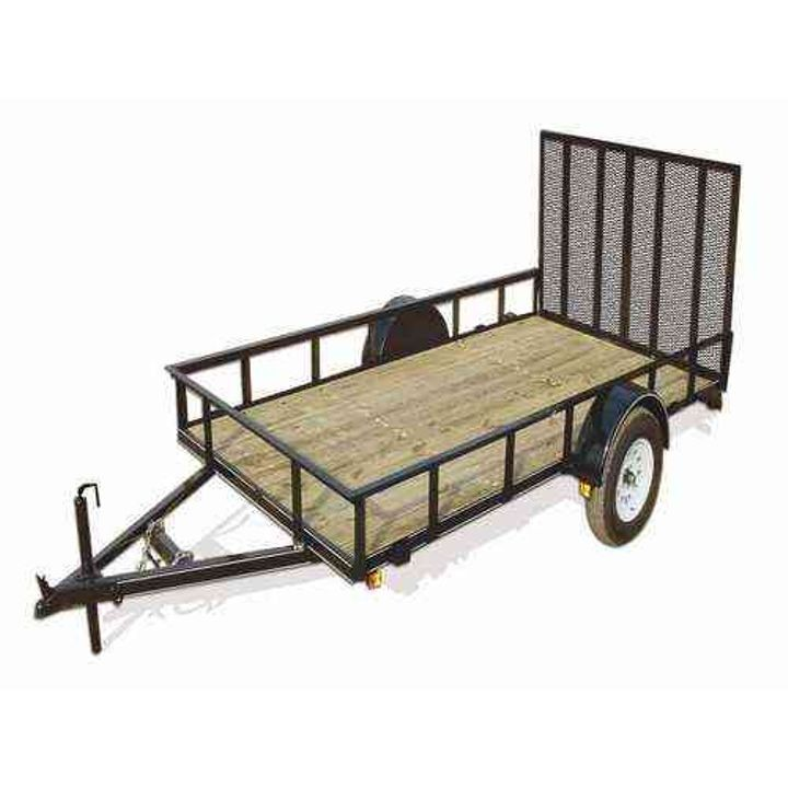 10' Wood Floor Landscape Trailer With Gate