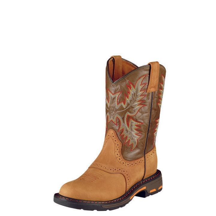 Boys' Workhog Pull-On Square Toe Cowboy Boot