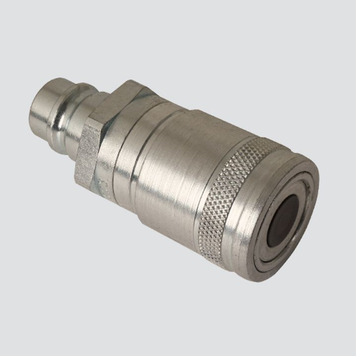1/2 Inch Flat Face Male Tip x 1/2 Inch Flat Face Female Coupler Quick Disconnect Skid Steer Coupler