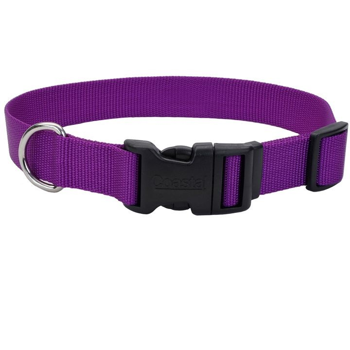 "1"" X 18-26"" Adjustable Dog Collar with Plastic Buckle"