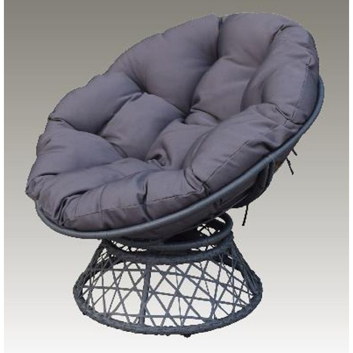 Swivel Wicker Papasan Chair