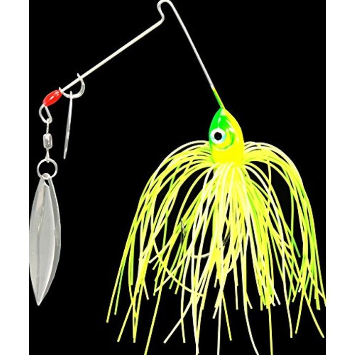 1/8 oz Premier Pro-Model Colorado Willow Spinnerbait - Lime