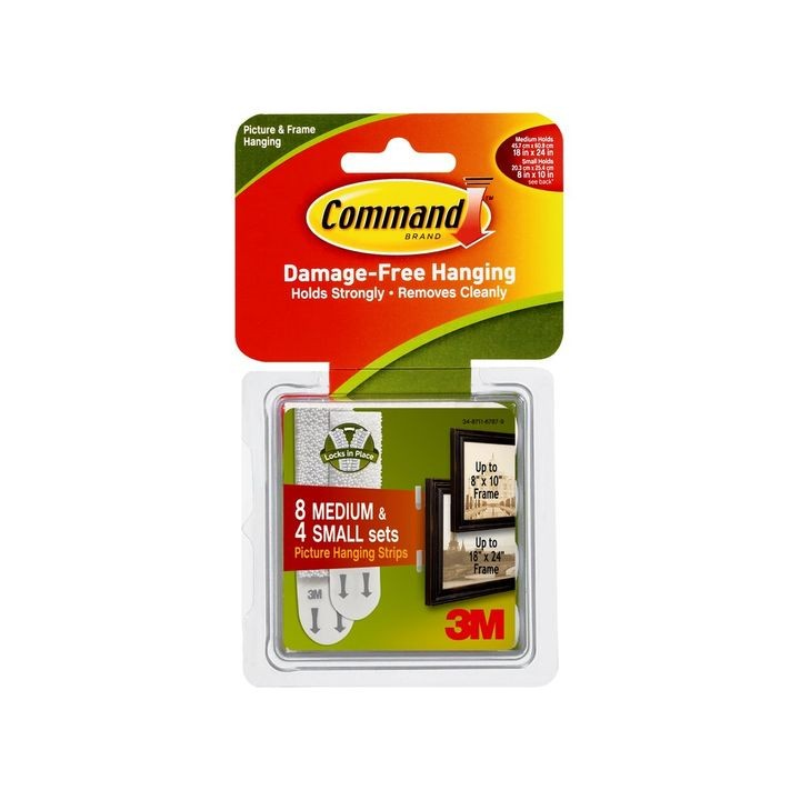 Command™ Small & Medium Picture Hanging Strips Kit