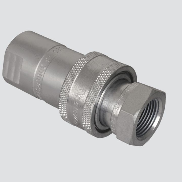 1/2 Inch Female Pipe Thread x 1/2 Inch Body One-Way Sleeve Hydraulic Quick Disconnect Coupler